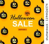 halloween sale with black... | Shutterstock . vector #1194426574