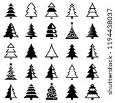 christmas tree icon collection  ... | Shutterstock .eps vector #1194438037