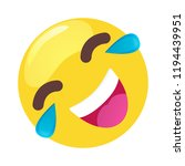 laughing and crying emoticon... | Shutterstock .eps vector #1194439951