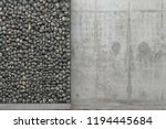 background with gray concrete... | Shutterstock . vector #1194445684