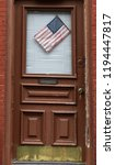 american flag on a door of the... | Shutterstock . vector #1194447817