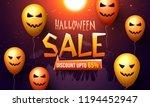 halloween sale poster or banner ... | Shutterstock .eps vector #1194452947