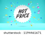 white paper bubble cloud with... | Shutterstock .eps vector #1194461671