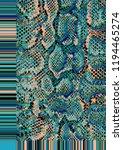 snake skin pattern texture... | Shutterstock . vector #1194465274
