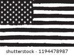 grunge usa flag.black and white ... | Shutterstock .eps vector #1194478987