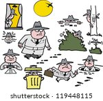 Vector Cartoon Of Spy Man...