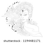 black and white page for... | Shutterstock .eps vector #1194481171