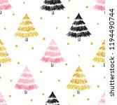 christmas tree seamless pattern ... | Shutterstock .eps vector #1194490744
