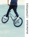 flatland bmx rider performing a ...   Shutterstock . vector #1194493261