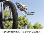 bicycle wheel in foreground and ... | Shutterstock . vector #1194493264
