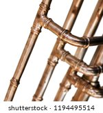 copper pipes and fittings for... | Shutterstock . vector #1194495514