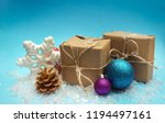 christmas balls and gift boxes... | Shutterstock . vector #1194497161