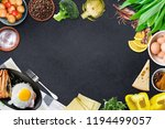 top view of table top with... | Shutterstock . vector #1194499057