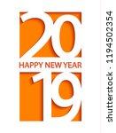 2019 happy new year creative... | Shutterstock .eps vector #1194502354