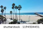 manhattan beach  los angeles ... | Shutterstock . vector #1194504451