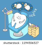 General Anesthesia. Cartoon...