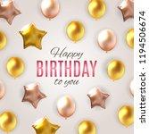 color glossy happy birthday... | Shutterstock .eps vector #1194506674