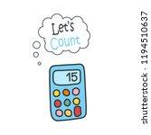 cartoon doodle handdrawn vector ... | Shutterstock .eps vector #1194510637