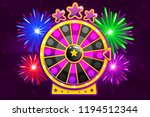 vector purple wheel of fortune...