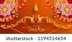 happy dussehra festival card... | Shutterstock .eps vector #1194514654