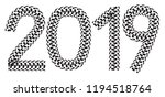 2019 inscription made from... | Shutterstock .eps vector #1194518764