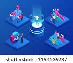 isometric concept of business... | Shutterstock .eps vector #1194536287