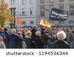demonstration in germany...   Shutterstock . vector #1194536344