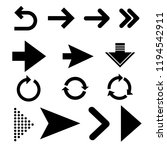 arrows vector collection with... | Shutterstock .eps vector #1194542911