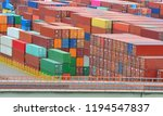 a lot of containers with cargo... | Shutterstock . vector #1194547837