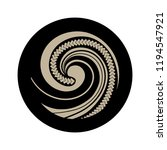 spiral symbol  based on silver... | Shutterstock .eps vector #1194547921