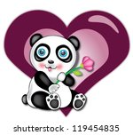 illustration of baby panda with ... | Shutterstock . vector #119454835