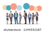 business people group chat... | Shutterstock .eps vector #1194552187