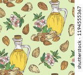 seamless pattern with almond... | Shutterstock .eps vector #1194555367
