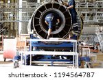 jet engine remove from aircraft ... | Shutterstock . vector #1194564787