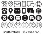 communication icon set. vector... | Shutterstock .eps vector #1194566764