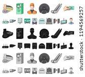 metro  subway cartoon icons in...   Shutterstock .eps vector #1194569257