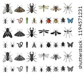 different kinds of insects... | Shutterstock .eps vector #1194571231