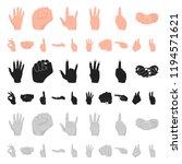 hand gesture cartoon icons in...   Shutterstock .eps vector #1194571621