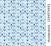 blue watercolor seamless... | Shutterstock . vector #1194574951