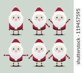 santa claus character vector | Shutterstock .eps vector #119457595