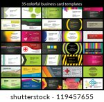 35 colorful business card template | Shutterstock vector #119457655
