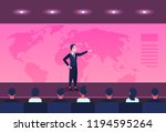 businessman pointing location...   Shutterstock .eps vector #1194595264