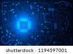 cpu chip and circuit board.... | Shutterstock .eps vector #1194597001