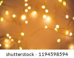 Blurred Golden Festive Lights....
