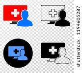 online medical patient eps...   Shutterstock .eps vector #1194605287