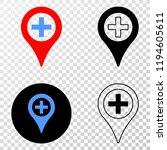 medical map marker eps vector...   Shutterstock .eps vector #1194605611