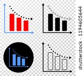recession bar chart eps vector...   Shutterstock .eps vector #1194605644
