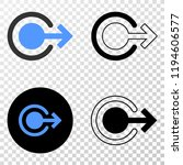 logout eps vector pictograph...   Shutterstock .eps vector #1194606577