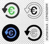 euro chargeback eps vector...   Shutterstock .eps vector #1194606844