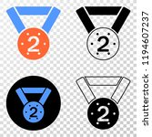 2nd place medal eps vector...   Shutterstock .eps vector #1194607237